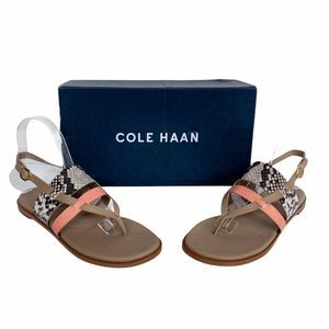 Cole Haan Coral & Python Finley Leather Sandals 7